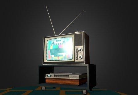 Vintage Tv Set 3D Model