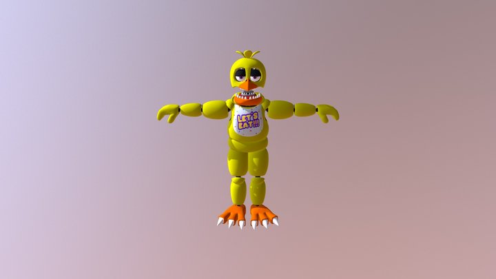 E_A Unwithered Chica 3D Model