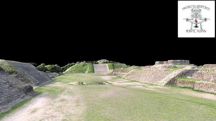 Monte Albán - Full site model / modelo entero 3D Model