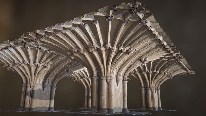 Lincoln's Inn Chapel Vaulted Undercroft 3D Model