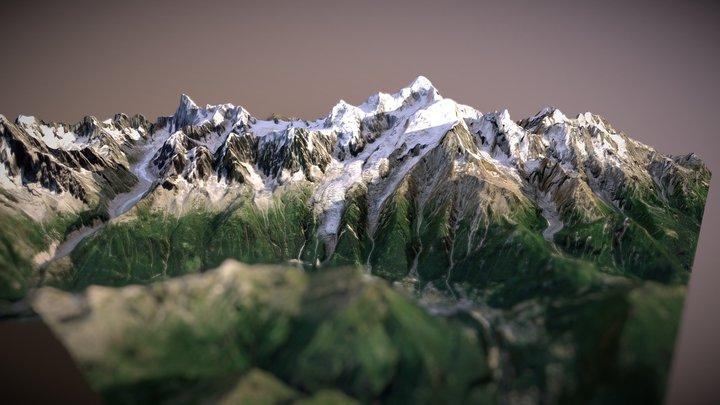 Mont Blanc, France 3D Model