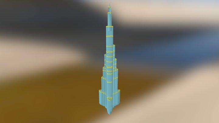 Burjkhalifa 3D Model