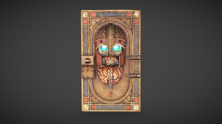 Viking Skull Guardian Door 3D Model