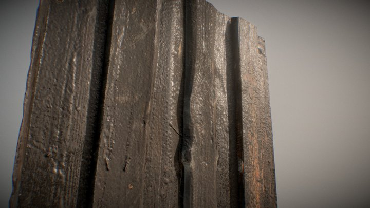Wood Wall Old 3D Model