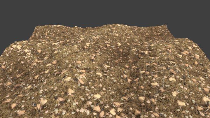 Dirt ground texture 3D Model