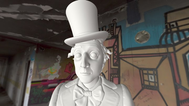 Willy Wonka Bust 3D Model