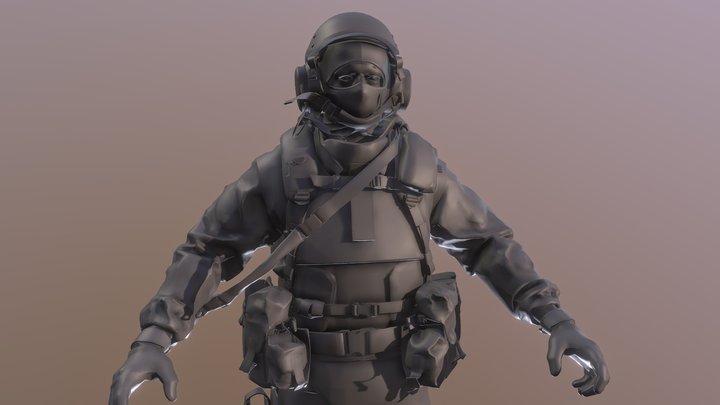 Body Mp Eastern Bale Modern Warfare 3D Model