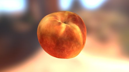 Peach, by Afinia ES360 3D Scanner 3D Model