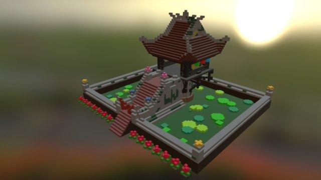 One Pillar Pagoda - Vietnam 3D Model