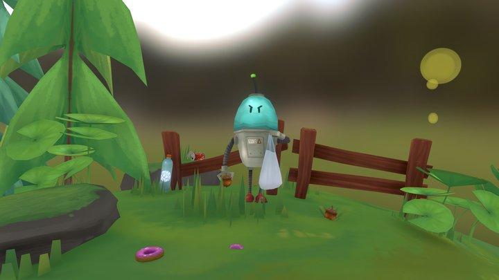 Mr Robot 3D Model