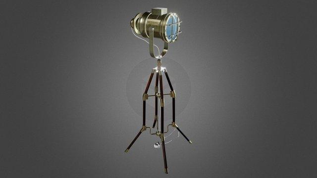 Tripod light 3D Model