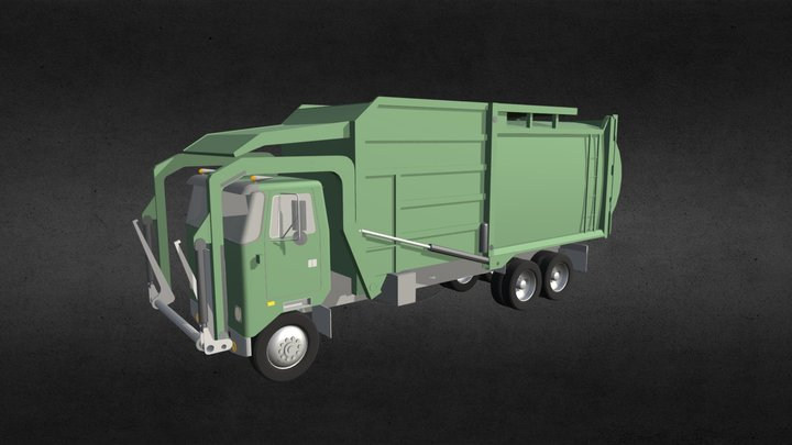 Garbage Truck 2 3D Model