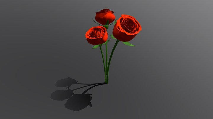 Torch Roses 3D Model