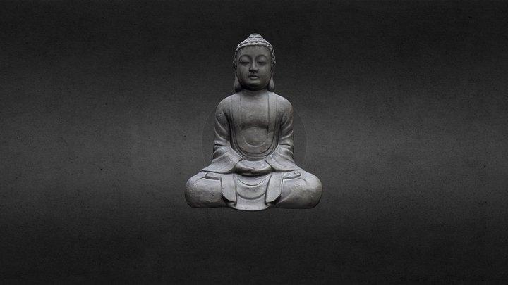 Sitting Bouddha statue 3D Model