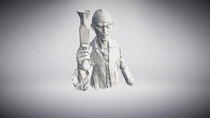 Gunslinger Pirate 3D Model