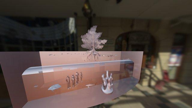 giant aquarium walk through design1 3D Model