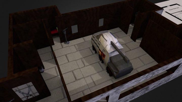 Blueprint House Project 3D Model
