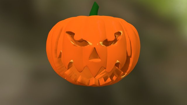 Jack o' Lantern (render in desc.) 3D Model