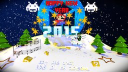 New Year with Mario bros  3D Model