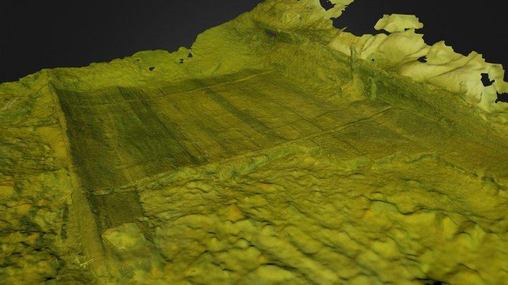 Ancient Roman Cargo Ship 3D Model