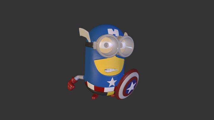 Captain Minion 3D Model