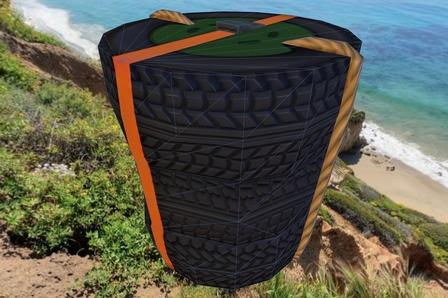Tire Barrel 3D Model