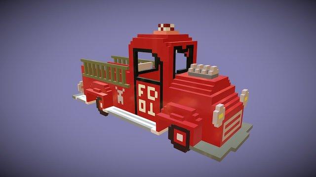 Firetruck (VoxVR) 3D Model