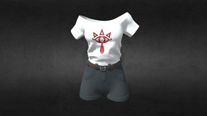 Cloths Zelda Sheikah 3D Model