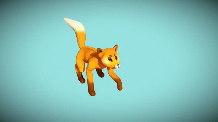 Fox spirit animal 3D Model
