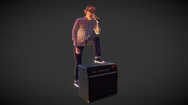 Chester Bennington 3D Model