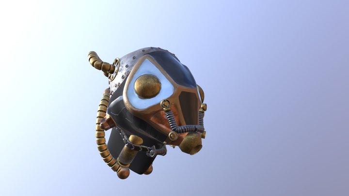 Steampunk Helmet 3D Model
