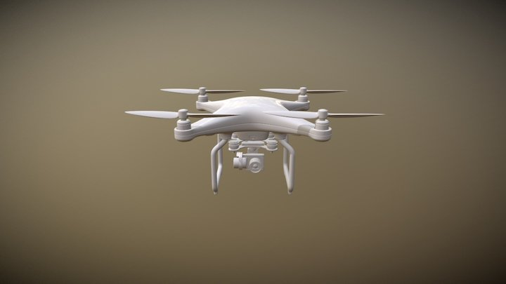 Drone High Poly 3D Model