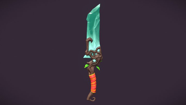 Shard of Abundance - Stylized Fantasy Dagger 3D Model