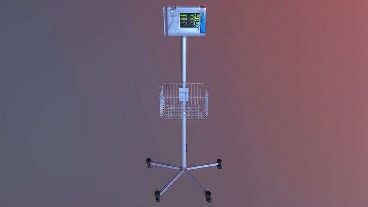 medical monitor 3D Model