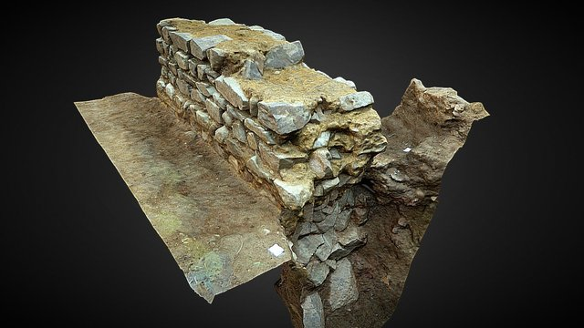 Southgates - Roman boundary wall 3D Model