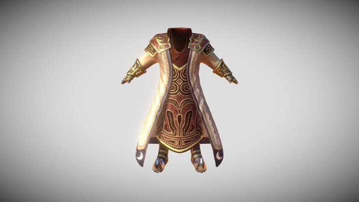 Armor and Cloth 3D Model