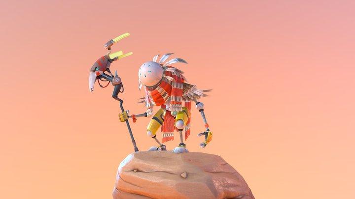 Native Robo-Shaman 3D Model