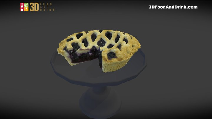 Blueberry Pie 3D Model