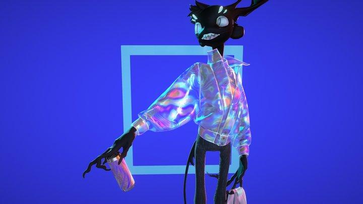 Iridescent jacket 3D Model