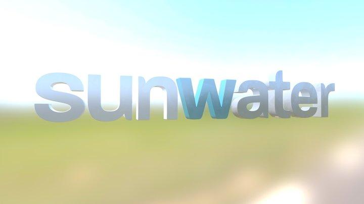 Sunwater Logo Concept 3D Model