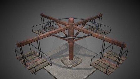 Abandoned Carousel 3D Model