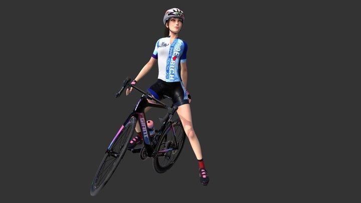 Ride Rich Girl POSE1 3D Model