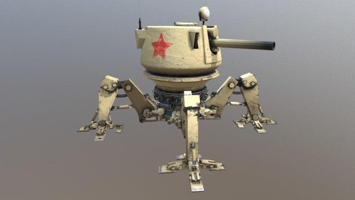 Mechatank - Caspian Desert Stalker 3D Model