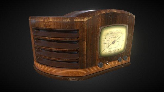 Old Fashioned Radio 3D Model
