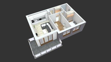 Szwoleżerów - mieszkanie nr 20 3D Model