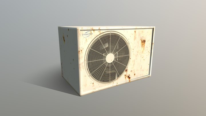 Air Conditioner Low Poly Textured Game Asset 3D Model