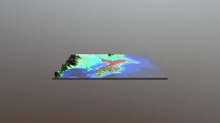 千葉県縄文遺跡6697個所プロット図(背景は全遺跡20130個所グレー点) 3D Model