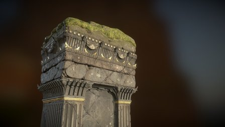 Ancient Pillar 3D Model