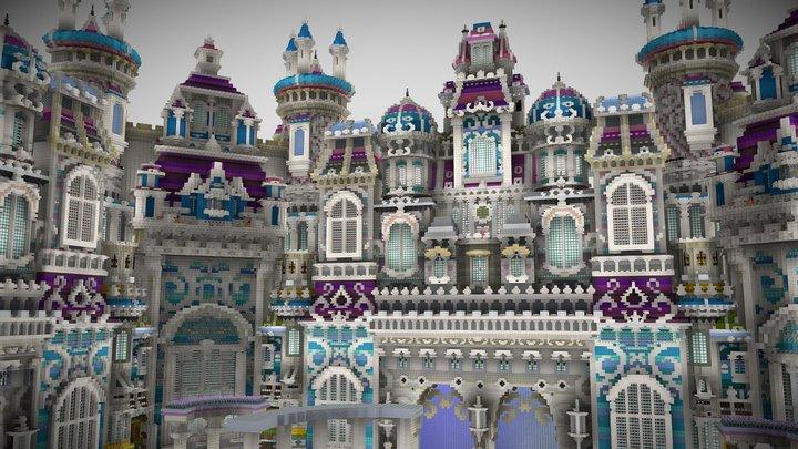 Minecraft Heaven Hub Build 3D Model