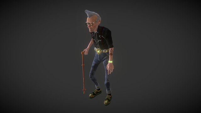 Old Man - Idle Animation 3D Model